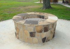 Old Sebastian Natural Stone wood burning fire pit