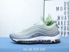 5b4a7dbc833 Mens Sneakers Nike Air Max 97 Rice white light grey white black Air Max 97