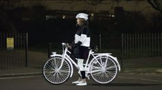 Reflective spray for cyclists
