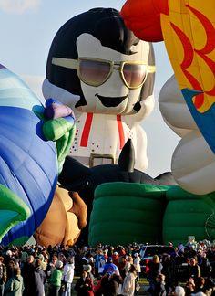 Aaron the Elvis Presley hot air balloon, Albuquerque International Balloon Fiesta, Special Shapes Rodeo, Thursday, Oct. in Albuque. Flying Balloon, Balloon Rides, Air Ballon, Hot Air Balloon, Albuquerque Balloon Fiesta, Flying First Class, Balloon Shapes, Mickey Mouse, Balloons