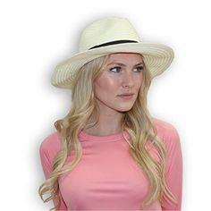 f364cbe40fe Sun Grubbies Toni - Women s Fashionable Fedora Sun Hat Mens Sun Hats