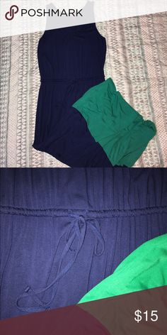 Color Block Maxi❤️ Size large color block maxi. Blue and teal. Adjustable cinched waist. Stretchy, comfortable fabric. 10/10 condition. Merona Dresses Maxi
