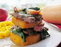 Beef Apple and Squash Napoleons Recipe that is perfect for an easy #WeekdaySupper