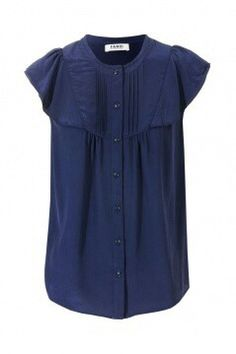 Loose Fitting Soft Cotton Long Shirt Blouse - Summer Dress Navy ...