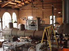 Steam Engine in Roundhouse, Greenfield Village, Dearborn, MI Cool Places To Visit, Great Places, Dearborn Michigan, Henry Ford Museum, Ho Trains, Round House, Bahn, Steam Engine, Childhood Memories