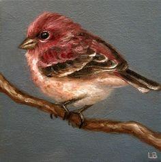 """Little Finch"" - Original Fine Art for Sale - © Larisa Brechun"
