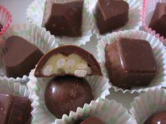 Cioccolatini ripieni: cioccolato bianco e cereali