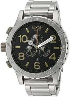 Men's Wrist Watches - Nixon Mens A083222200 5130 Chrono Analog Display Japanese Quartz Silver Watch -- Read more reviews of the product by visiting the link on the image. (This is an Amazon affiliate link)