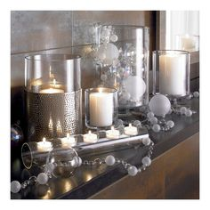 clear glass candle decor