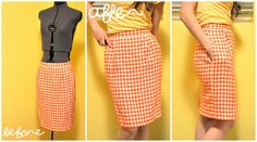 make a skirt smaller or a pencil skirt...great for all those skirts @ thrift stores