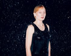 Bettina von Zwehl, Rain #7, 2003 This issue presents innovative photographic art created or shown in the UK in 2004. Bettina von Zwehl is known for her work which depicts psychological states. Her new series of photographs of women in the rain are sensual images which register the transformative powers of rain and its psychological impact.
