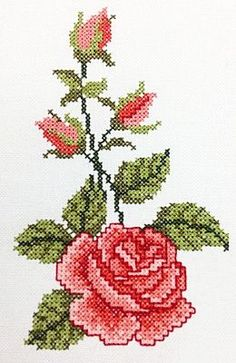 1 million+ Stunning Free Images to Use Anywhere Easy Cross Stitch Patterns, Cross Stitch Borders, Cross Stitch Rose, Simple Cross Stitch, Cross Stitch Flowers, Cross Stitch Designs, Cross Stitching, Cross Stitch Embroidery, Hand Embroidery Flowers