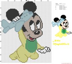 Baby MIckey Mouse with toy airplane
