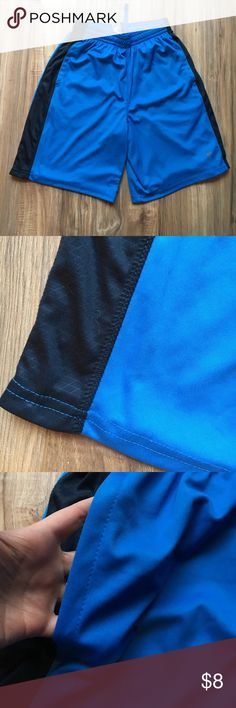 Men's athletic shorts Blue shorts with black strip on the side. Elastic waistband and draw string. Size small. From old navy. Lightly used still in great condition. Old Navy Shorts Athletic