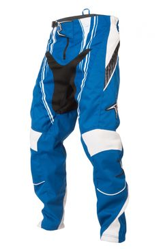 #nema #mtb #bmx The 2012 Nema Podium pant (blue/white). Also available in YOUTH. #realtruecycling - Nema Downhill MTB, BMX Racing