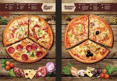 Menu for the pizzeria Presto