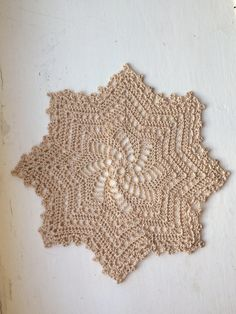 A personal favourite from my Etsy shop https://www.etsy.com/uk/listing/518462117/handmade-crochet-doily-8-inch-doily