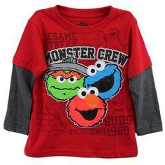 Sesame St Boy's 2-7 Reet Monster Crew Long Sleeve Tee, Tango Red, 2T Sesame St http://www.amazon.com/dp/B00ATQ9SYE/ref=cm_sw_r_pi_dp_Y7q0tb06H2W1Q9YC