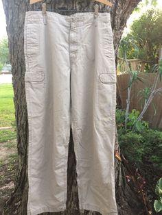 Levi's 33x32 mens cargo pants Khaki Light Cotton #Levis #Cargo