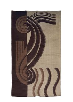 MARION DORN (1896-1964) TAPIS RECTANGULAIRE, RÉALISÉ PAR LA MANUFACTURE ROYAL WILTON, 1932 Art Deco Rugs, Rug Ideas, Ivoire, Signs, Decoration, Point, Tribal Tattoos, Art Nouveau, Arts And Crafts