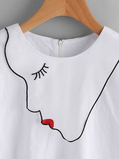 Totally new collection Embroidery On Clothes, Shirt Embroidery, Embroidered Clothes, Embroidery Fashion, Embroidery Designs, Fashion Sewing, Diy Fashion, Fashion Dresses, Kurta Designs