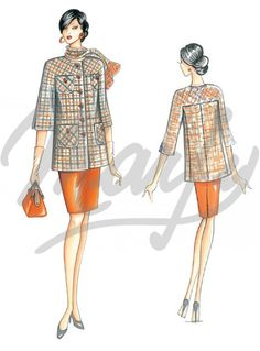 Our Patterns :: Marfy Collection 2014/2015 :: Autumn/Winter :: Sewing Pattern 3347 -