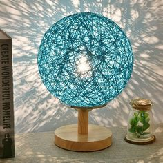 Natures Sepak Takraw wooden Table Lamp - March 23 2019 at Natural Table Lamps, Wooden Table Lamps, Lamp Table, Desk Lamp, Lampe Decoration, Diy Crafts For Home Decor, Wooden Ceilings, Diy Holz, Bedroom Lamps