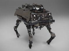 ArtStation - scout robot, eugene shushliamin
