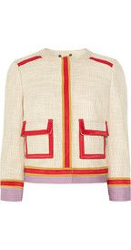 Tory BurchFarrow bouclé cotton-blend jacket