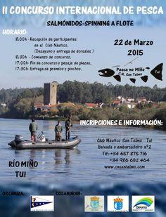 2º concurso internacional de pesca - Rio Minho - pesca desde barco 2015