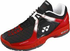 Yonex Men`s Power Cushion Durable Tennis Shoes Black/Red Yonex. $99.00