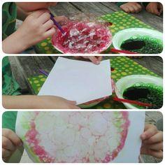Kunst med frugtfarve og sæbe