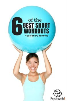 6 of the Best Short Workouts You Can Do at Home. Easy to fit in exercises for women as part of a healthy life. Short Workouts, At Home Workouts, Quick Workouts, Cardio Workouts, Running Workouts, Workout Routines, Workout Gear, Hiit, Fitness Tips