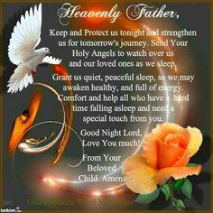 Prayer Scriptures, Bible Prayers, Faith Prayer, God Prayer, Power Of Prayer, Bible Verses, Catholic Prayers, Good Night Blessings, Good Night Wishes