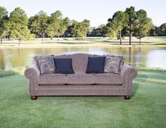 Mayo Furniture 3180 Fabric Sofa - Muse Pecan