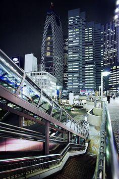Travel Asian Tokyo, Japan Blue Shinjuku - Robot City