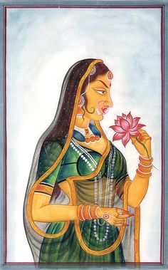 Mughal Maharani.  This woman might not be the most beautiful, but she is incredibly potent nevertheless and to me expresses womanhood in its entirety