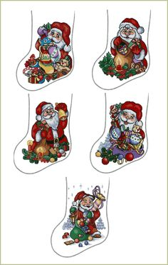 Christmas Stockings Embroidery Designs