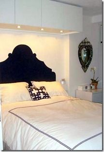 Paint a headboard shape on the wall!
