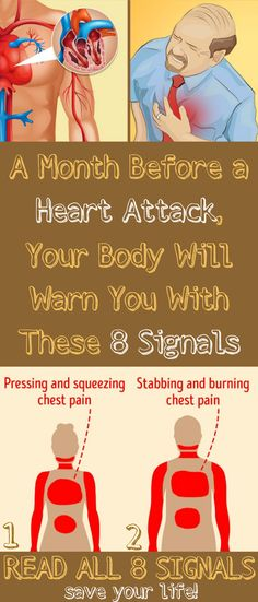 A Month Before a #Heart #Attack, Your #Body Will #Warn You With These 8 #Signals