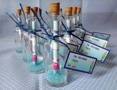 Convite na garrafa - fundo do mar | LU fazendo arte | Elo7