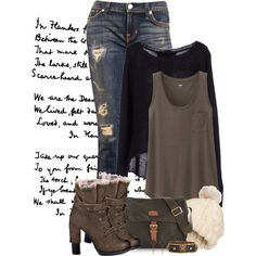 """""""Distressed Bell Bottoms"""" by xandriah on Polyvore"""