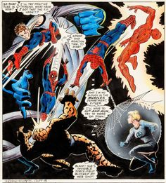 Marvel Team Up #100 Spider-man vs. the Fantastic Four by Frank Miller