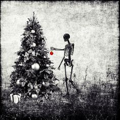 christmas wrapping by CosmicKat Zombie Christmas, Merry Christmas, Dark Christmas, Little Christmas, Fall Halloween, Christmas Holidays, Christmas Ideas, Xmas, Christmas Stuff