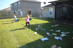 Rocky's Recycle Relay game for Paw Patrol Party!