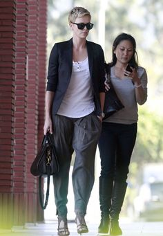 Charlize Theron - Charlize Theron Heads to the Disney Studios
