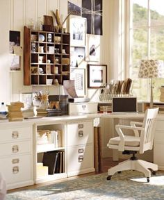 Office / IDEAS & INSPIRATIONS: Pottery Barn Home Office Decor Home Office Decorating Ideas - CotCozy