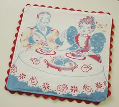 Hot pad made out of vintage linens
