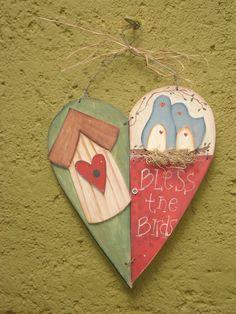 Enfeite para porta ou parede.Em mdf com pintura country R$45,00