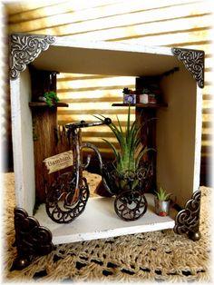 Casa de muñecas en miniatura suculenta imágenes antiguas ♪ acabados decoran con plantas aéreas   miniatura bambini Doll House Interior de la habitación